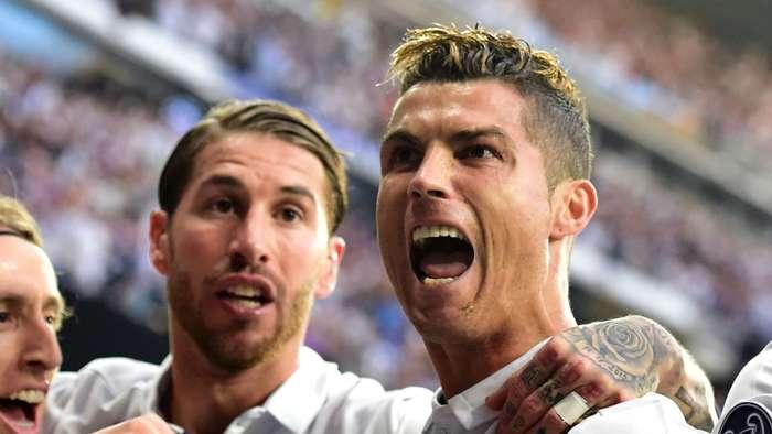 Sergio Ramos Cristiano Ronaldo Real Madrid
