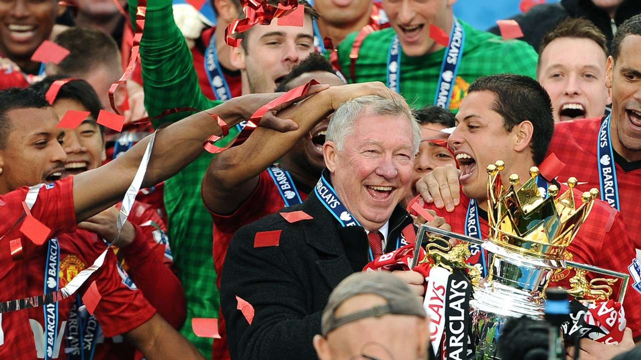 Manchester United 2012-13 Alex Ferguson Premier League trophy