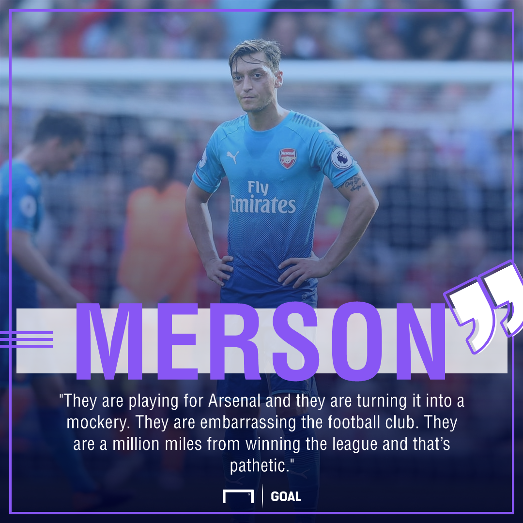 Paul Merson Arsenal pathetic