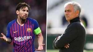 Lionel Messi Jose Mourinho GFX