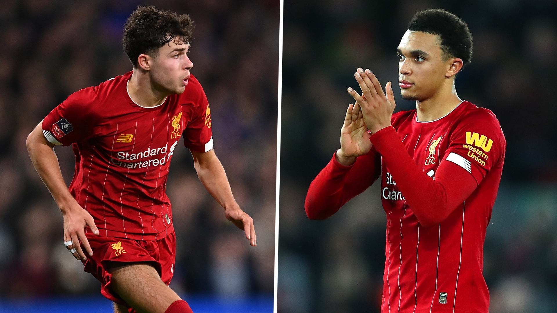 Alexander-Arnold backs Williams to become 'world class' after lasting just 45 minutes on full Liverpool debut