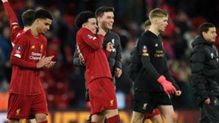 Liverpool celebrate vs Shrewsbury