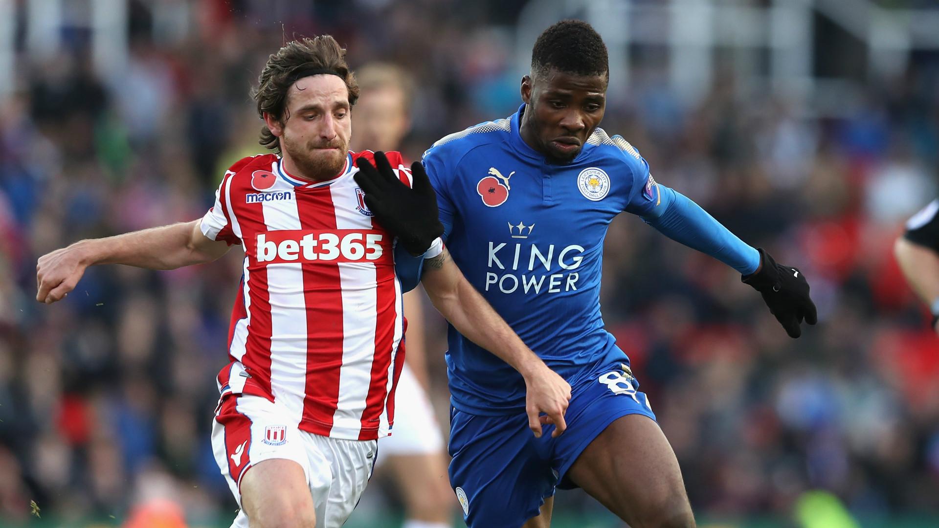 Joe Allen Kelechi Iheanacho Stoke City Leicester City