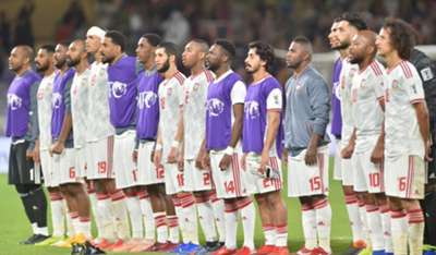 UAE NT after the match against Thailand