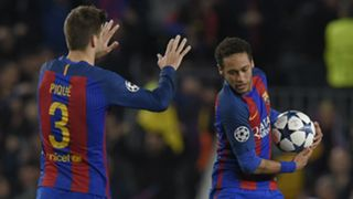 Neymar Gerard Pique Barcelona Champions League