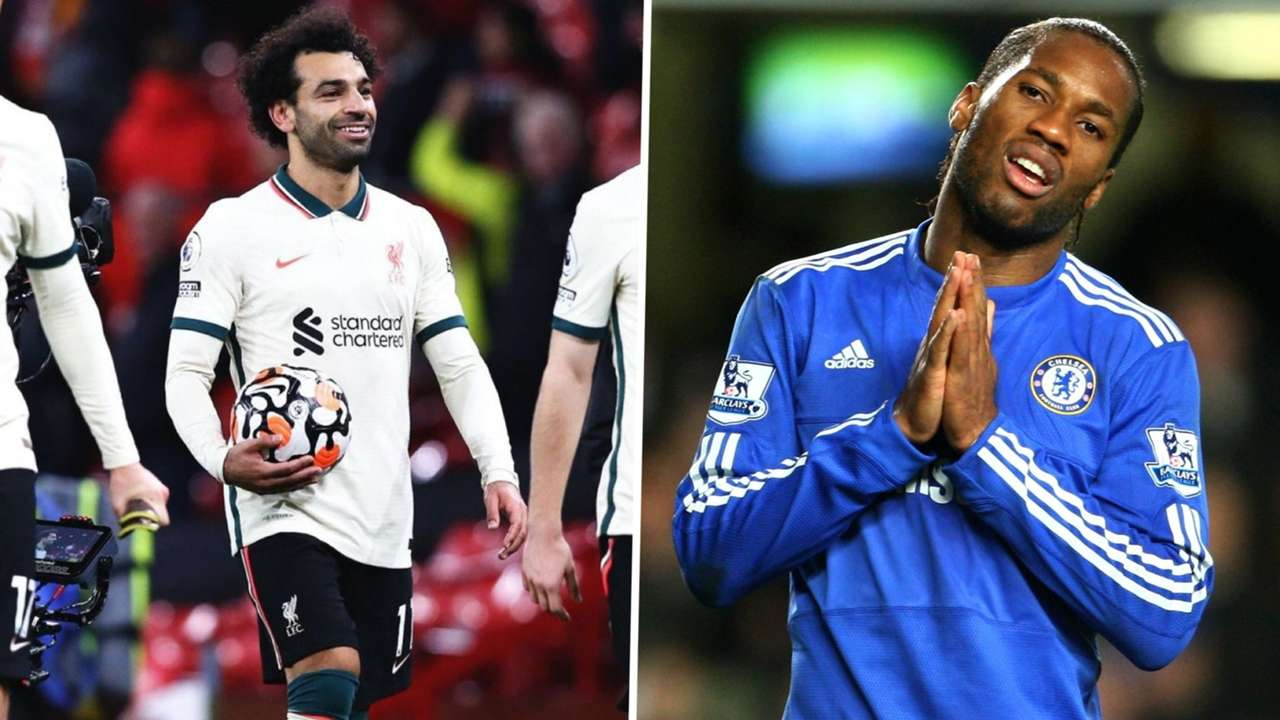 Mohamed Salah v Didier Drogba of Liverpool and Chelsea.