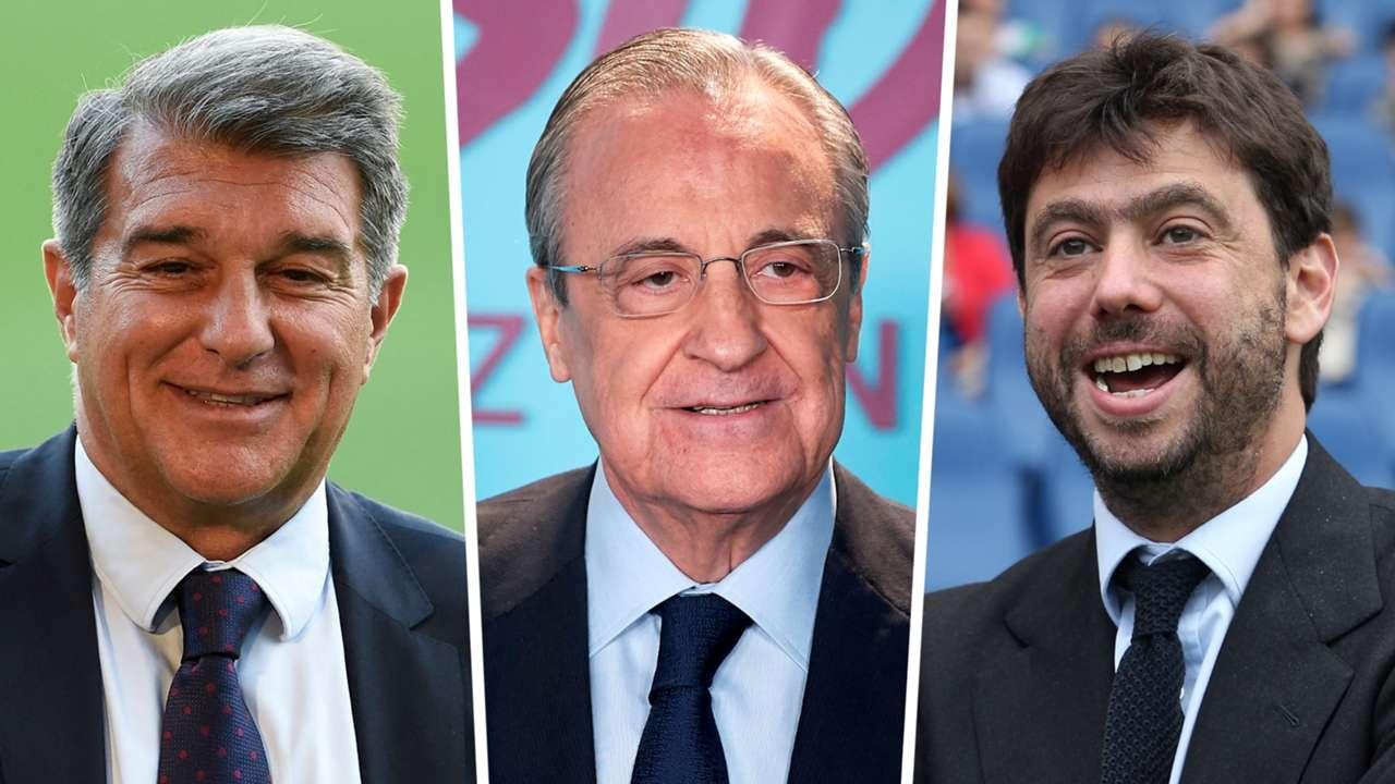 Joan Laporta, Florentino Perez, Andrea Agnelli
