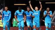 Valencia celebrate Cheryshev goal vs Athletic Bilbao