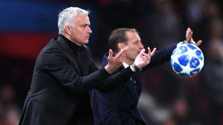 Jose Mourinho Massimiliano Allegri Manchester United Juventus