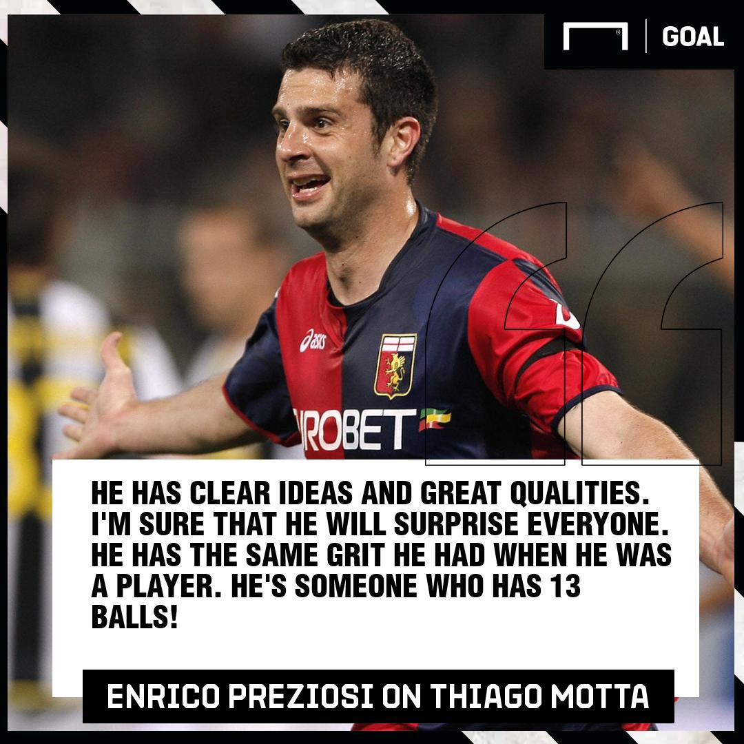Thiago Motta Enrico Preziosi Genoa PS