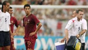 Cristiano Ronaldo Portugal Wayne Rooney England World Cup 2006
