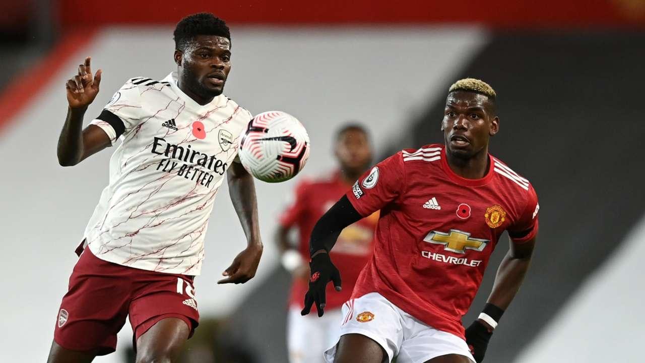 Thomas Partey Paul Pogba Man Utd Arsenal 2020-21