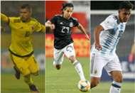 Camilo Hernández Diego Lainez Gonzalo Maroni Selección Colombia Selección mexicana Selección argentina Sub 20