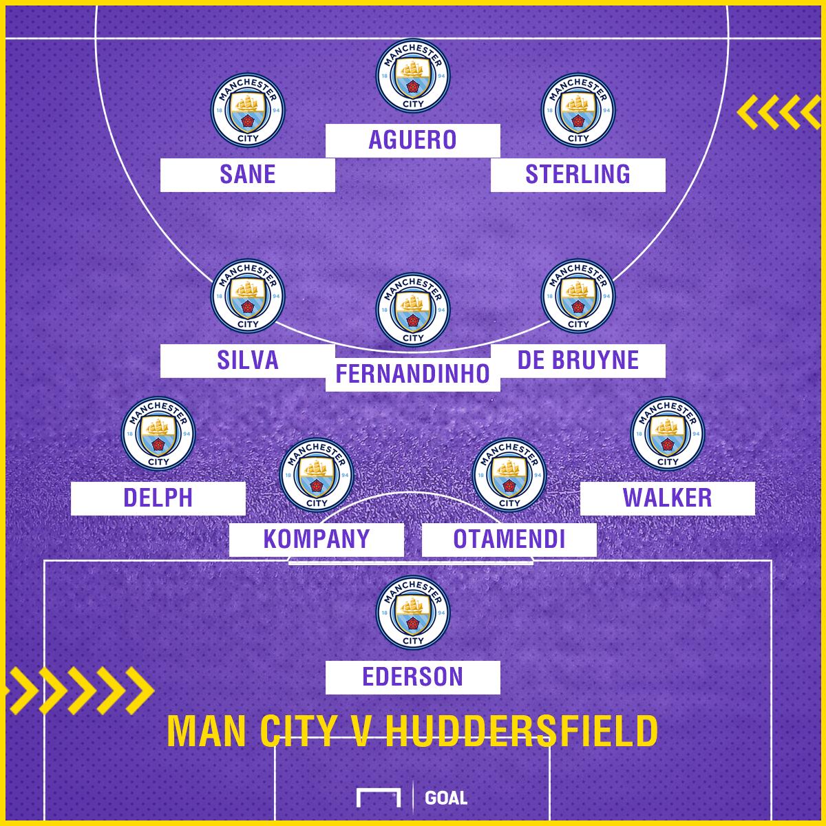 Manchester City XI v Huddersfield 261117