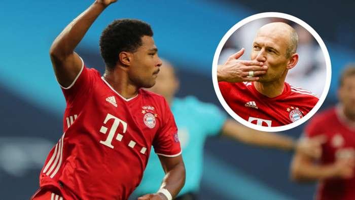 Serge Gnabry Arjen Robben Bayern Munich GFX