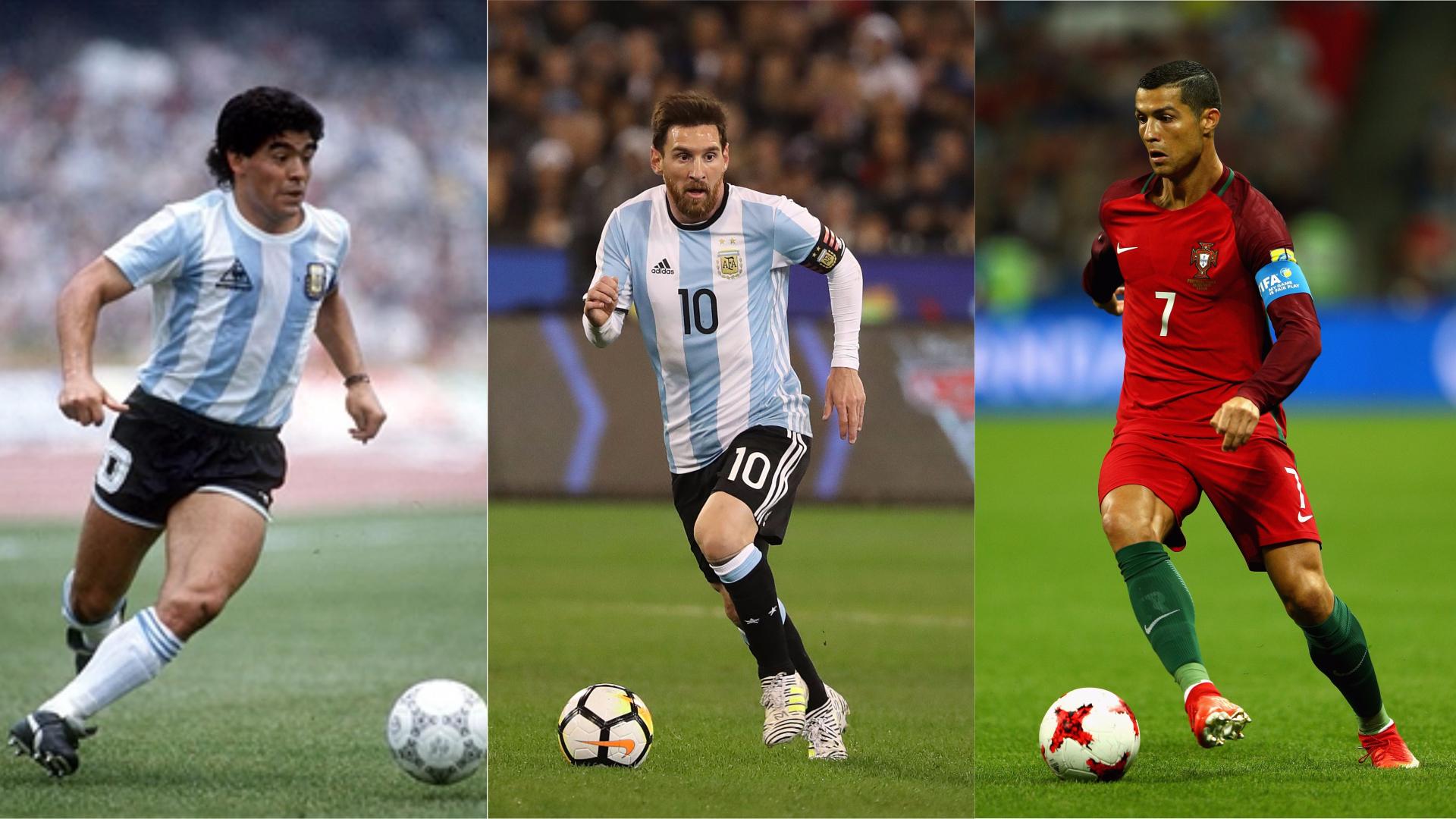 Maradona, el mejor de todos los tiempos: Messi segundo, ¿y Cristiano Ronaldo?  | Goal.com