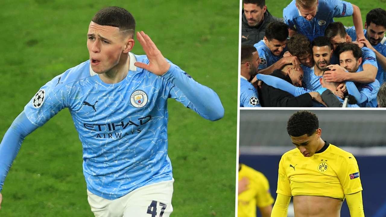 Foden Bellingham Manchester City Borussia Dortmund GFX