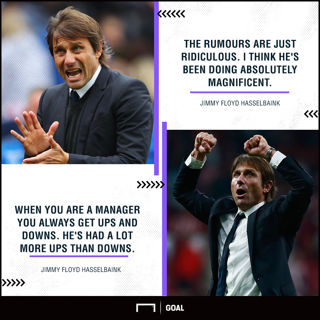 Antonio Conte Jimmy Floyd Hasselbaink rumours ridiculous