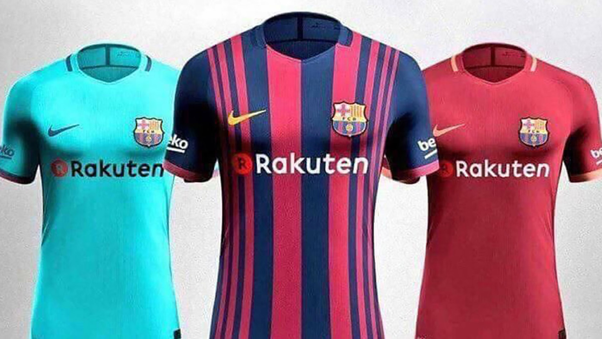 brand new 58ea2 4705a Barcelona's new kits for 2017-18 leaked? What Messi and ...