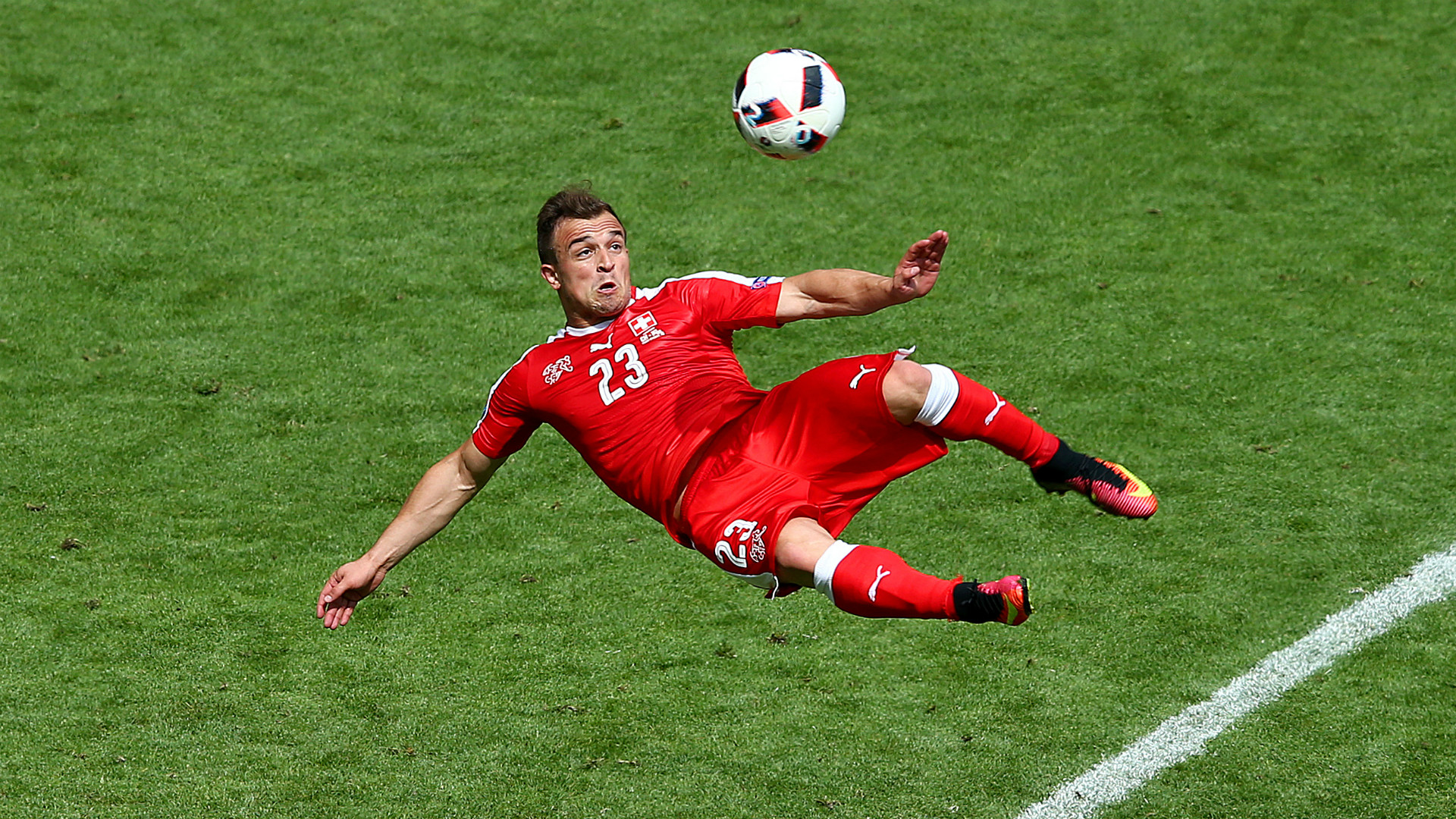 Xherdan Shaqiri S Reacts After Missing Out On Euro 2016 Goal Of The Tournament Vote To Gera Goal Com