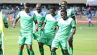 Clifton Miheso Boniface Omondi Kenneth Muguna and Joash Onyango of Gor Mahia.