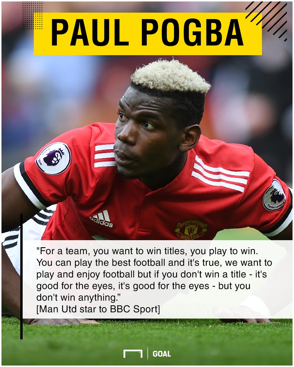 Paul Pogba Manchester United winning all that matters
