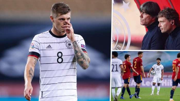 Toni Kroos Joachim Low Serge Gnabry Germany Spain 2020-21 Nations League GFX