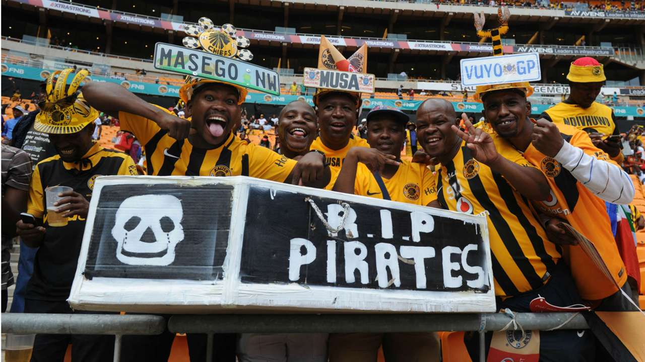 Kaizer Chiefs fans at the Soweto Derby match