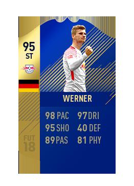 FIFA 18 Bundesliga Team of the Season Timo Werner