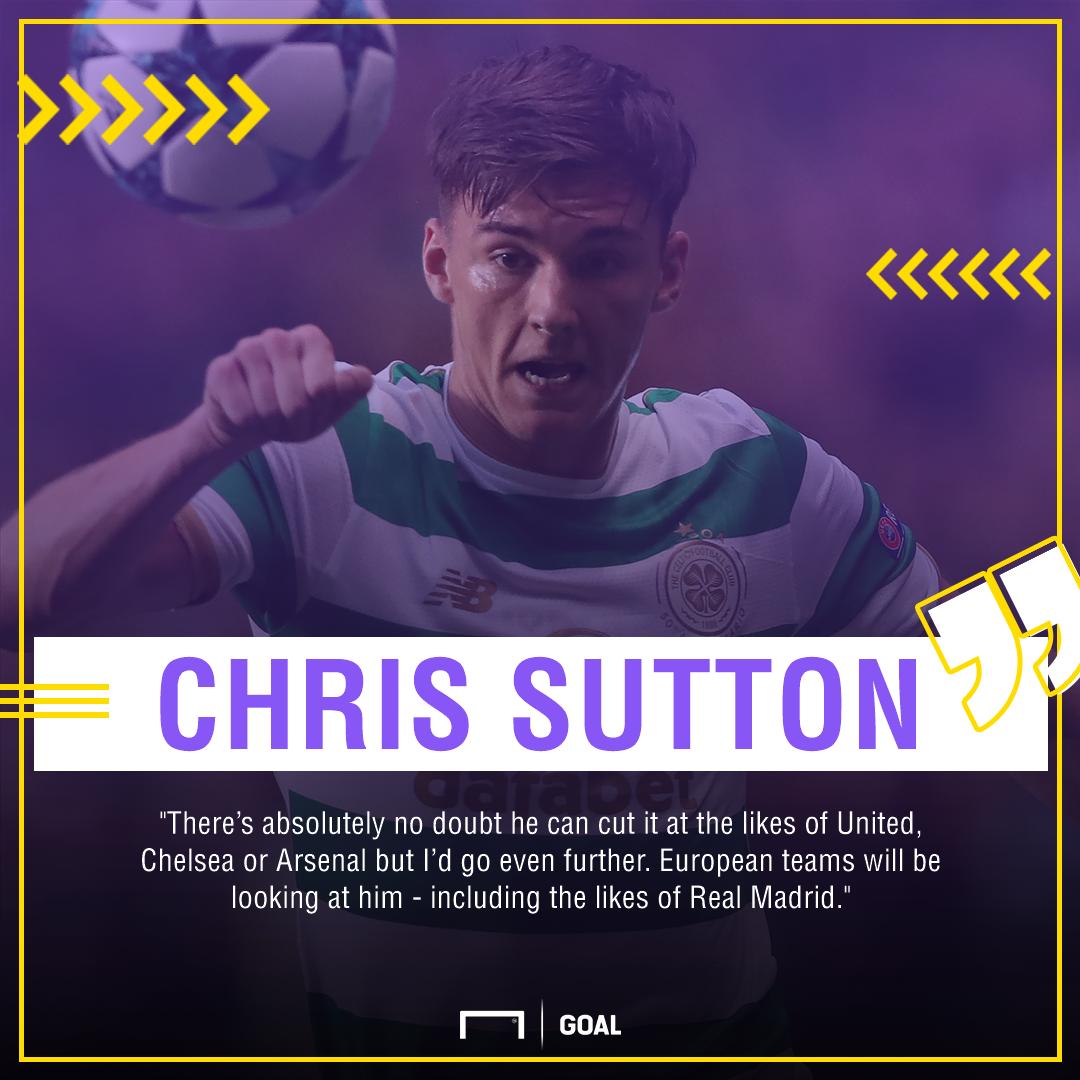 Kieran Tierney Chris Sutton Celtic Real Madrid