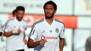 Mohamed Elneny in Besiktas training