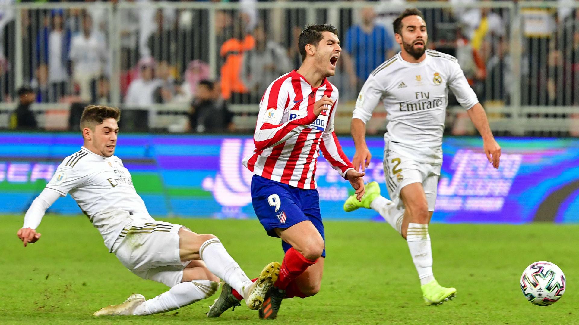 Valverde Morata tackle