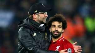 Jurgen Klopp Mohamed Salah Liverpool 2018-19