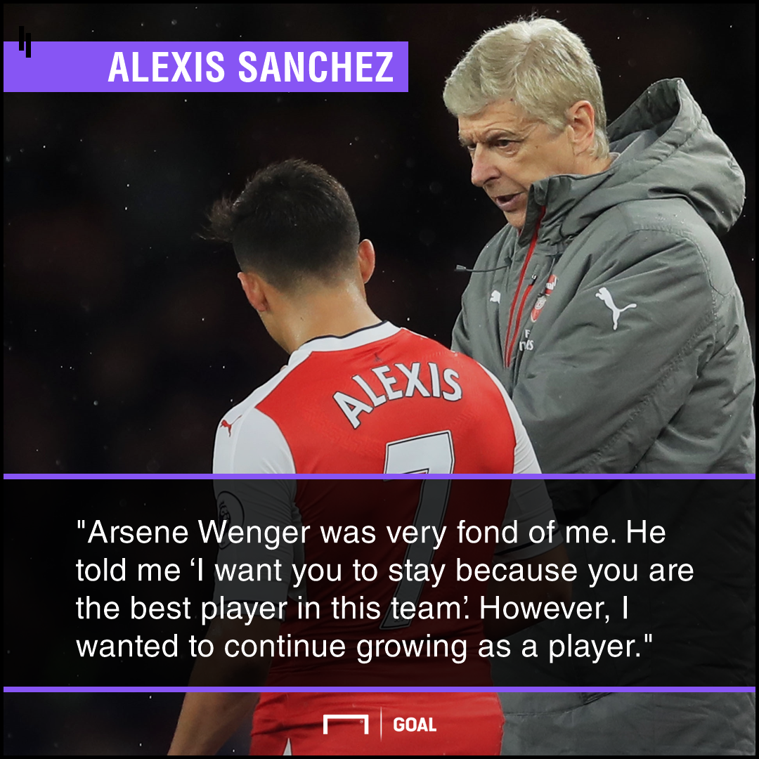 Alexis Sanchez Arsene Wenger best player