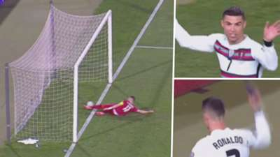Cristiano Ronaldo enojo gol anulado