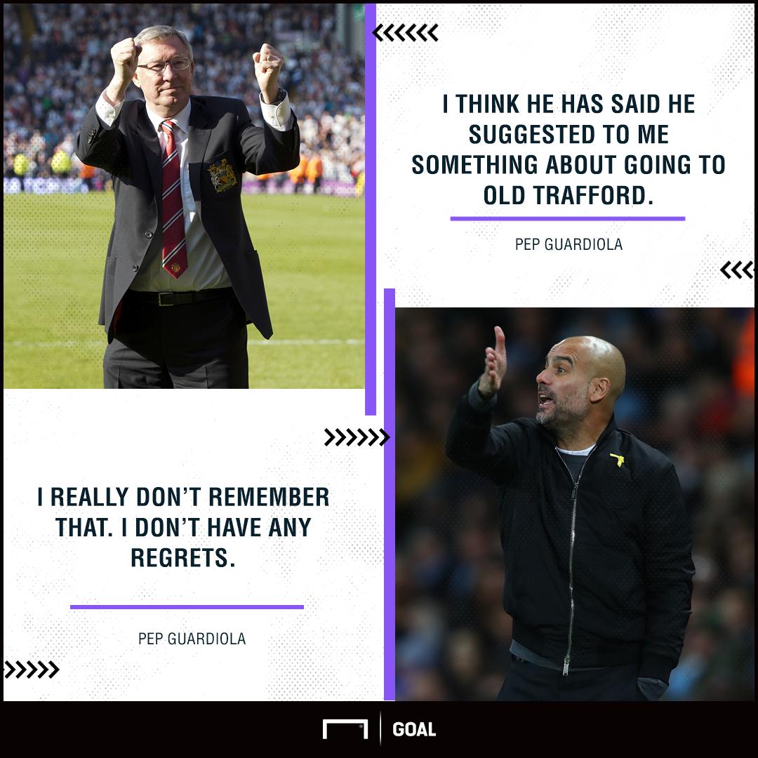 Pep Guardiola Alex Ferguson Manchester United snub