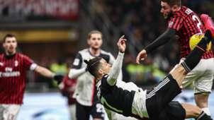 Cristiano Ronaldo Calabria Milan Juventus Coppa Italia