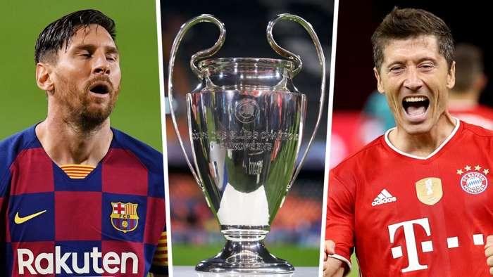 Lionel Messi Robert Lewandowski Champions League GFX
