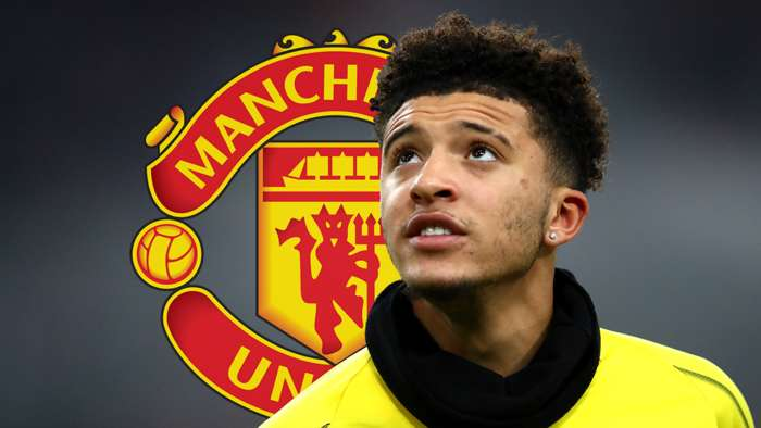 Jadon Sancho Dortmund Man Utd Graphic