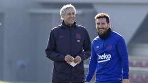Setién y Messi, Barcelona