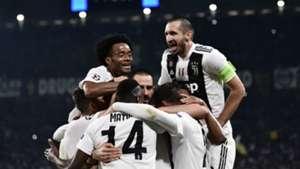 Juventus celebrating Juventus Manchester United