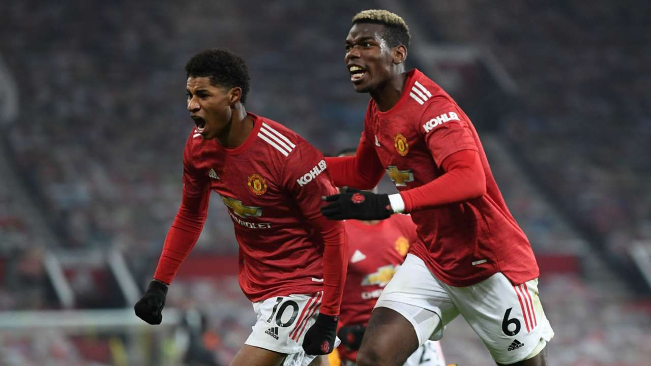 Rashford Pogba Manchester United 2020