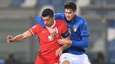 Bastoni Lewandowski Italy Poland Nations League