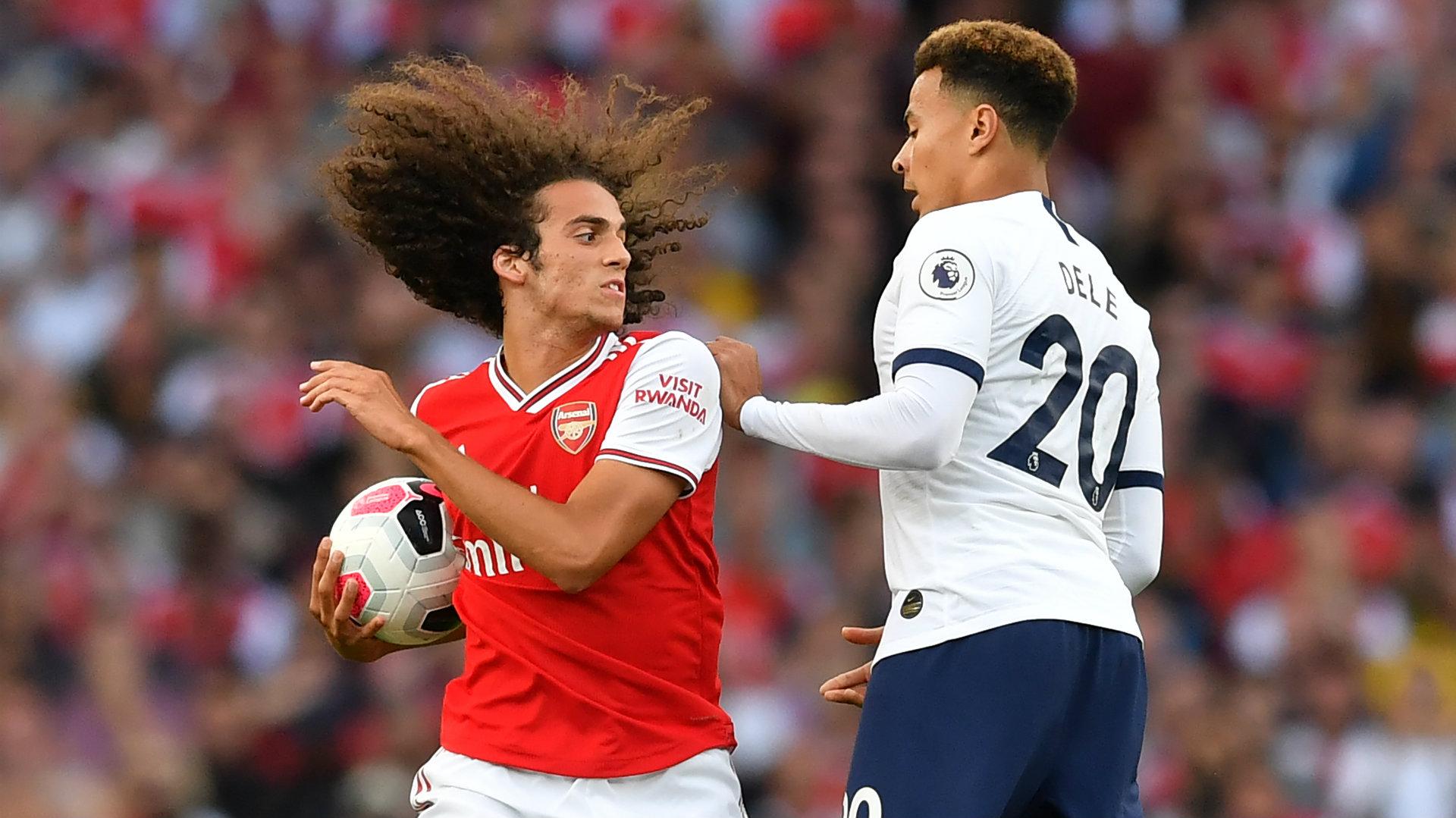 Matteo Guendouzi Arsenal vs Tottenham 2019-20