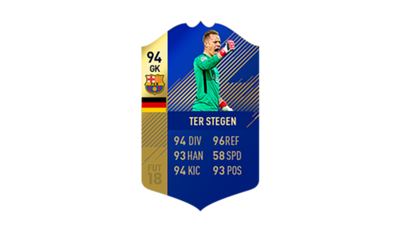 FIFA 18 Ultimate Team of the Season Ter Stegen