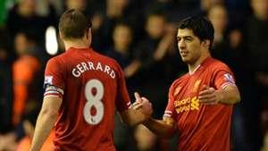 Steven Gerrard Luis Suarez Liverpool