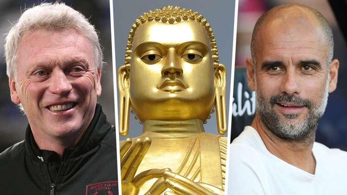 David Moyes Buddha Statue Pep Guardiola