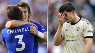 Calgar Soyuncu Harry Maguire Leicester Man Utd
