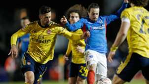 Pablo Marí Arsenal Portsmouth FA Cup 02 03 2020
