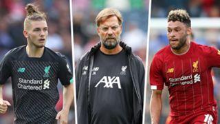 Harvey Elliott Jurgen Klopp Alex Oxlade-Chamberlain Liverpool 2019-20